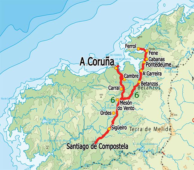 MAP CAMINO INGLES